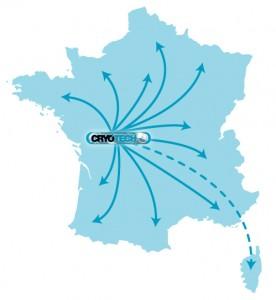 Carte CRYOTECH - Poitiers 86
