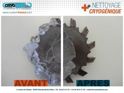 Nettoyage Cryogénique de lame de résine de polystyrene