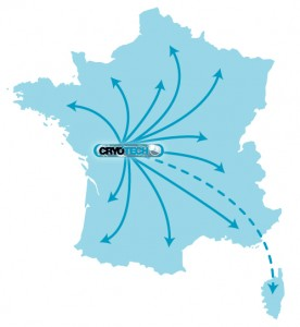 Carte contact CRYOTECH - Poitiers 86