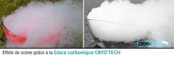 Glace carbonique pour effets de scène - évènementiel - CRYO'TECH