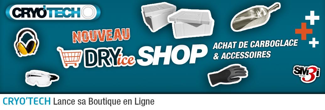 Ouverture d'une Boutique en ligne de glace Cryogénique par CRYO'TECH
