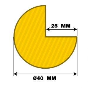 Protection mousse - Humanchoc - Quart de rond - Schéma