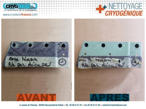 Nettoyage cryogénique Pattes-de-fixation-de-vitrage-Aeronautique 3 CRYO'TECH