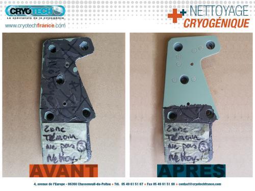 Nettoyage cryogenique Pattes-de-fixation-de-vitrage-Aeronautique 5 CRYO'TECH