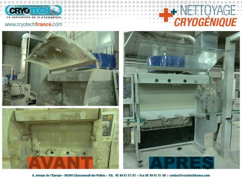 Nettoyage cryogenique Poste de travail CRYOTECH