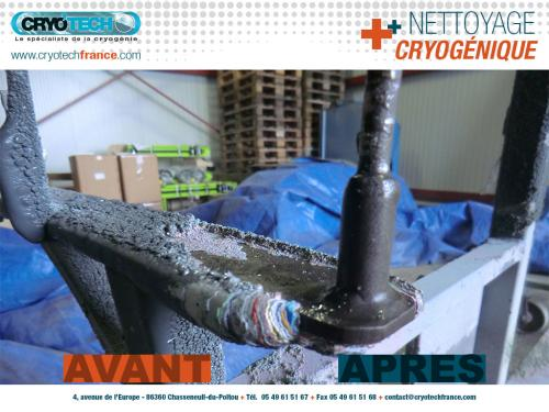 Nettoyage cryogenique Support peinture CRYO'TECH