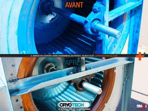 Nettoyage cryogénique Turbine d'aspiration cabine de peinture-2-CRYO'TECH