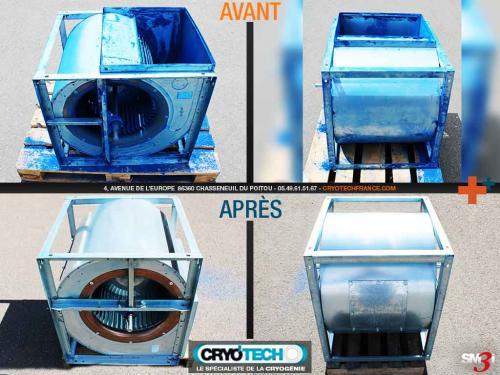 Nettoyage cryogénique Turbine d'aspiration cabine de peinture-CRYO'TECH