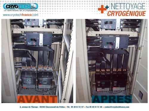 Nettoyage cryogenique armoire électrique