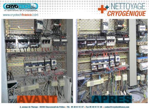 Nettoyage cryogenique armoire électrique 2 CRYO'TECH