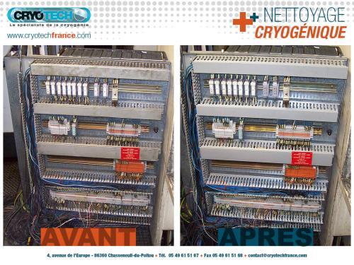 Nettoyage cryogenique armoire électrique 3 CRYO'TECH