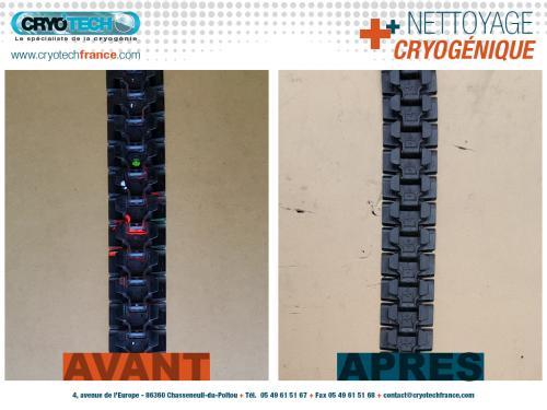 Nettoyage cryogenique de-chaine-de-convoyage-peinture-aerosol-2 CRYO'TECH