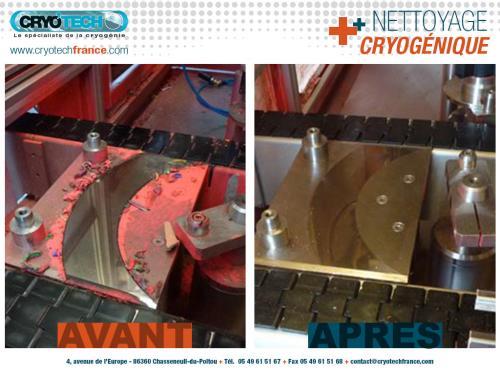 Nettoyage cryogenique ligne conditionnement de spray de peinture 2